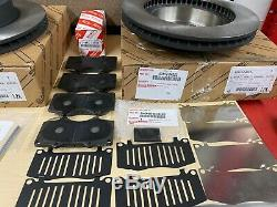 2005-2019 Toyota Tacoma 4wd Genuine Oem Front Brake Rotors Tcmc Pads & Shim Kit