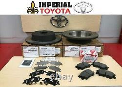 2006-2018 Rav4 New Rear Genuine Toyota Brake Kit Oem Rotors Tcmc Pads And Shims