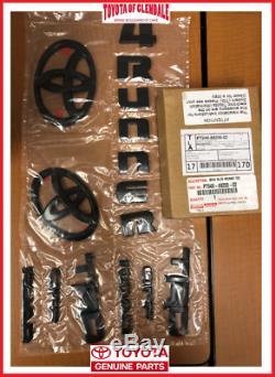 2010-2021 Toyota 4runner Trd Off Road Blackout Emblem Overlay Kit Genuine Oem