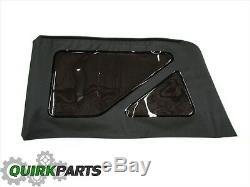 2011-2017 Jeep Wrangler 2-Door 2DR Black Soft Top Window Kit NEW GENUINE MOPAR
