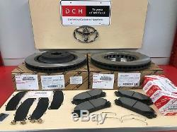 2011-2018 Toyota Sienna Genuine Front Brake Kit Oem Rotors, Tcmc Pads & Shims