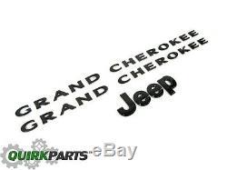 2013-2014 Jeep Grand Cherokee BLACK EMBLEM NAMEPLATE KIT MOPAR GENUINE OEM NEW