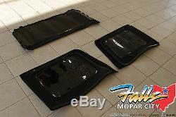 2013-2018 Jeep Wrangler JK 4 Door Premium Fabric Soft Top Tinted Window Kit OEM