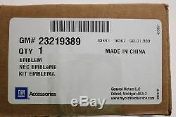 2015-2020 Chevrolet Colorado Black Bowtie Emblem Kit 84261878 Genuine OEM GM
