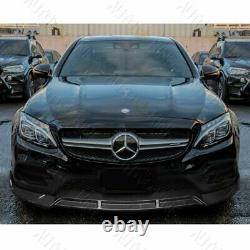 3pcs Real Carbon Fiber Front Bumper Lip Fit 15-18 Mercedes-benz W205 C-class