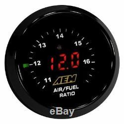 AEM Digital Wideband O2 UEGO AFR Air Fuel Ratio Gauge Kit Without SENSOR GENUINE