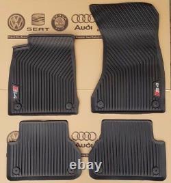 Audi A4 B9 8W original S4 Fußmatten Gummimatten Gummifußmatten rubber mats