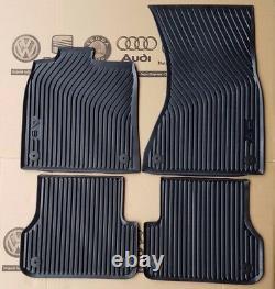 Audi A6 4G C7 original Fußmatten Gummimatten vorne + hinten Gummifußmatten S6