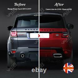 COMPLETE Range Rover Sport 2013-2017 to 2018+ FACELIFT kit (GENUINE headlights)