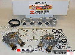 Dual 45 DCOE Weber kit fits Toyota 22R 1981-1984 Pickup Genuine European Weber