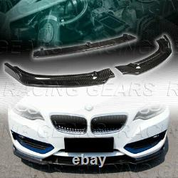 FIT BMW F23 228i 230i M235i M240i REAL CARBON FIBER FRONT BUMPER BODY LIP 3-PCS