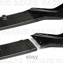 Fit 2018-2020 Infiniti Q50 Sport Real Carbon Fiber Front Bumper Body Kit Lip