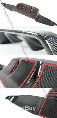 Fits 2014-17 Infiniti Q50 Vrd 2pcs Style Carbon Fiber Rear Bumper Diffuser Kit