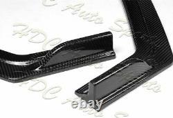 For 18-21 Infiniti Q50 Sport Real Carbon Fiber Front Bumper Body Kit Spoiler Lip