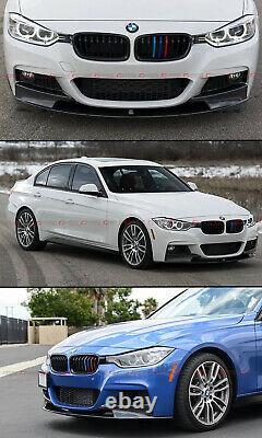 For 2012-18 BMW F30 3 Series M Sport Real Carbon Fiber Front Bumper Lip Splitter