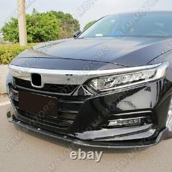 For 2018-2021 Honda Accord 4DR Real Carbon Fiber Front Bumper Body Kit Lip 3PCS