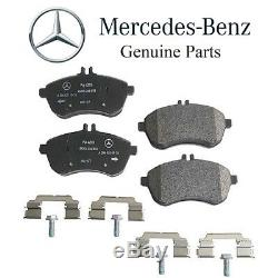 For Mercedes W204 C204 C300 Front & Rear Brake Pad Sets & Sensors Kit Genuine