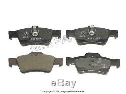 For Mercedes W204 W212 C350 E350 Complete Brake Pads Rotors Vented Kit Genuine