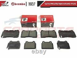 For Mitsubishi Lancer Evo 10 X Fq300 Front And Rear Genuine Brembo Brake Pads