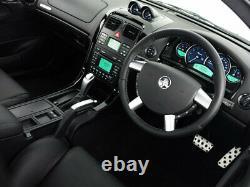 Genuine Holden VY VZ Auto Leather Shifter Knob Silver Stitch Silver Kit WK WL Co