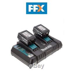 Genuine Makita BL1850 2 x 5.0Ah Battery and Twin Charger Kit