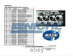 Genuine Mikuni RS34 RS36 RS38 RS40 Carburetor Rack Rebuild Repair Kit MK-RS34-40