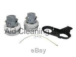 Genuine NUMATIC 2 x BYPASS MOTORS WVD CTD NTD VACUUM CLEANER COMPLETE KIT 305425