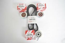 Genuine Toyota Tacoma V6 4.0L 1GRFE 2005-2014 Drive Belt & Idler Pulley OEM Kit