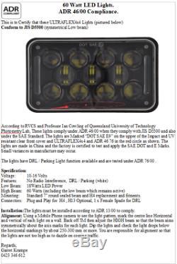 Genuine Ultraflex4x4 240W Subaru & Toyota GTW QUAD Lights LED Kit Black Face