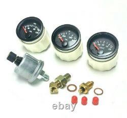 Genuine VDO gauge set 323i, 325i, 325e, M3 e30 84-91 volt, oil press, oil temp