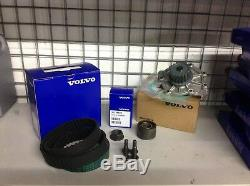 Genuine Volvo D5 Timing Belt Kit With Water Pump Crank Nut And Pully Bolts
