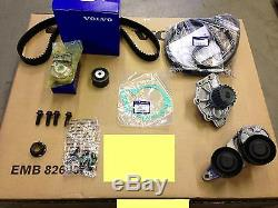 Genuine Volvo D5 Timing Belt Water Pump Aux Complete Kit V70 S60 S80 Xc90 2006