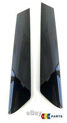 Mini New Genuine Cooper R50 R52 R53 A Pillar Molding Black Trim Cover Set Kit