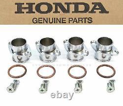 New Genuine Honda Exhaust Header Flanges Set 1969-1976 CB750 K OEM Head Kit #C67