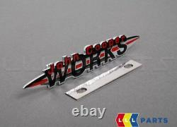 New Genuine Mini R52 R53 Jcw Kit Logo Badge On Front Grill 51147175101