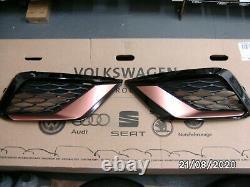 New Genuine Seat Leon 17 Cupra R Front Grille Kit Copper Gloss Black 5f0071617