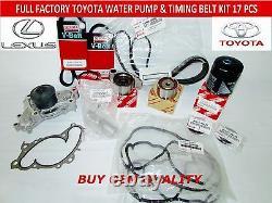 Oem Rx300 Toyota Avalon Genuine 17 Pcs Timing Belt Kit 3.0 V6 1mzfe Not Chinese