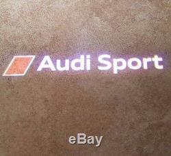 Original Audi Sport LED Einstiegsleuchten Einstiegsbeleuchtung Tür Logo Leuchten