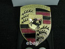 Porsche 911 914 944 928 factory genuine hood badge kit fabulous