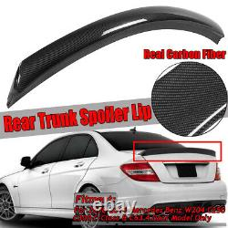 REAL Carbon Fiber Rear Trunk Spoiler Wing For Mercedes Benz W204 C300 C63 AMG