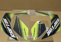 Raptor 700 Decals Graphics Kit Stickers GENUINE YAMAHA 700R STOCK OEM GREEN #13