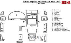 Real Black Carbon Fiber Dash Trim Kit for Subaru Impreza Outback 1997-2001