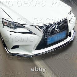 Real Carbon Fiber Front Bumper Lip 3pc Fit 14-16 Lexus Is250 Is350 F-sport Sedan