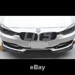 Real Carbon Fiber Front Bumper Skirt Lip Kit For BMW F30 3 Series 20122015