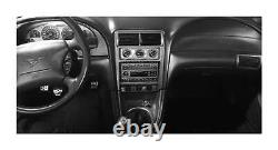 Real Carbon Fiber Silver Dash Trim Kit for Ford Mustang 2001-2004 Coupe Interior