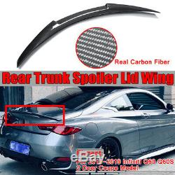 Real Carbon Fiber Trunk Spoiler M4 Style For Infiniti Q60 Q60S Coupe 2018-2019