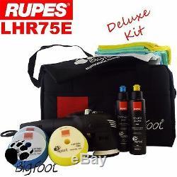 Rupes Bigfoot LHR75E 3 Deluxe Orbital Polishing Machine Polisher Buffer Kit