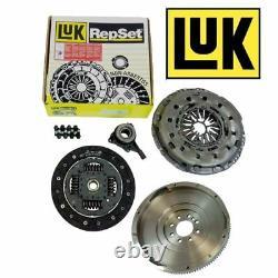 Solid Flywheel, Genuine Luk Clutch Kit, Csc Fits Ford Transit 2.4 6 Speed Mk7
