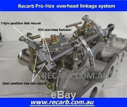 Suits Toyota Corolla Starlet 3K 4K 5K GENUINE Twin 40 WEBER DCOE Carburettor Kit