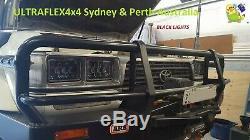 Toyota 80 Series Headlight Kit Black Face 240W LED Genuine Ultraflex4x4